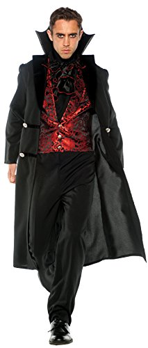 Underwraps Men's Gothic Vampire Outfit Adult Fancy Dress Halloween Costume