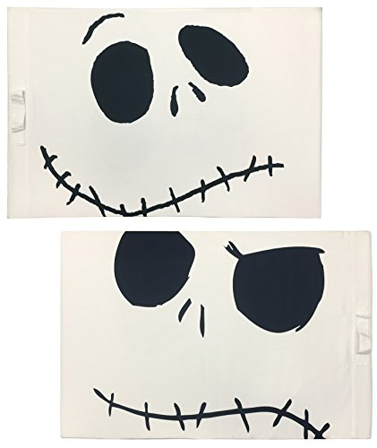 Disney Nightmare Before Christmas Jack's Face 2-Pack Pillowcase/Trick-or-Treat Bag -