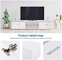 Awe Inspiring Tusy White Tv Stand For 65 Inch Tv Stands Media Console Entertainment Center Television Table 2 Storage Cabinet 2 Shelves For Living Room Bedroom Evergreenethics Interior Chair Design Evergreenethicsorg