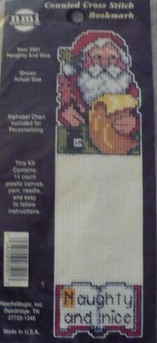 Naughty And Nice Counted Cross Stitch Bookmark