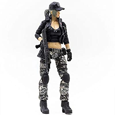 JoyToy 1/18 Soldier Action Figures 4-Inch CF LieHu B Female Anime Figure Dark Source Cross Fire Game Collection Action Figure Military Model Toys: Toys & Games [5Bkhe0804813]