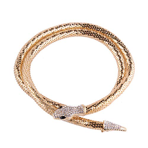 GVUSMIL Bendable Snake Necklace Twistable Chain Adjustable Neck Collar Choker Wrap Bracelet Scarf Holder
