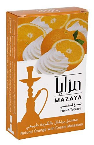 (Mazaya Shisha Hookah Molasses Premium Flavors 150g for Hookah (Orange with Cream))