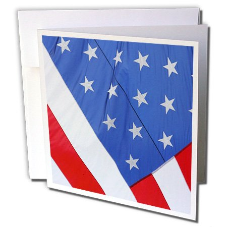 3dRose Massachusetts, Cape Cod, 4th of July holiday flag - US22 SPE0285 - Susan Pease - Greeting Cards, 6 x 6 inches, set of 12 (gc_90922_2)