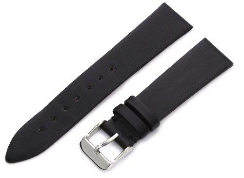 Hadley-Roma Women's LSL978RA 180 18-mm Black Satin Grained Leather Watch Strap