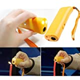 Ultrasonic Drive Pet Dog Repeller Training Stop Barking With LED Light Torch