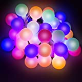 LED Concepts 100 LED Globe String Lights LED with 8 Lighting Modes and UL Listed Power Supply, Multi-color