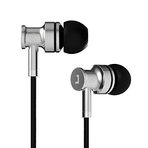 Jayfi JA40 Earphones, In-Ear Metal Earbuds, Stereo Bass Isolating Headphones with Mic