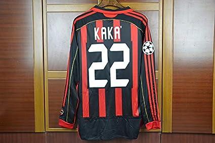 best cheap fbb12 81c27 Amazon.com : Retro Kaka#22 AC Milan Home Longsleeve Soccer ...