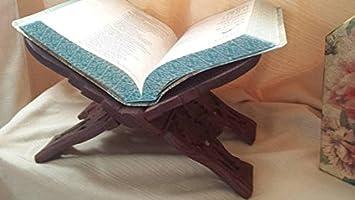 CD Fermalibri in Legno per Libri Shivaji Bibbia Supporto per Lettura di corano Bhagvat Geeta e gurugranth Dvd