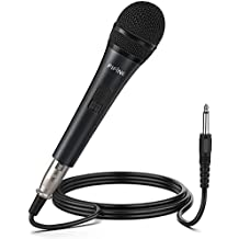 Karaoke Microphone,Fifine Dynamic Vocal Microphone for Speaker,Wired Handheld Mic with On/Off Switch and14.8ft Detachable Cable.(K6)