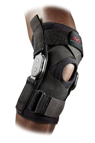McDavid 429X Hinged Knee Brace with Cross Straps (Black, Medium)