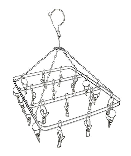 Two Layers Thick Stainless Steel Clothes Drying Rack Hanger