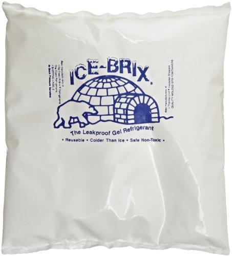Polar Tech IB 12 Ice Brix Refrigerant Packs, Standard Leakproof, 12oz Capacity (Case of 24)