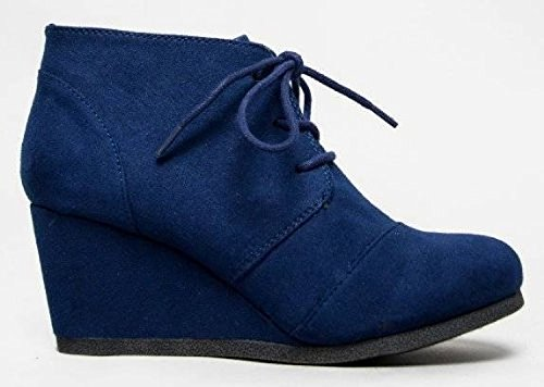 City Classified Rex Ankle bootie Lace Up Wedge Boot