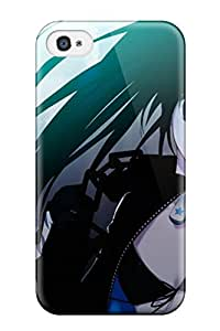 4/4s Awesome Case Cover Compatible With Iphone 4/4s Black Rock Shooter