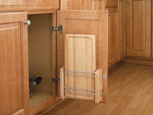 Rev-A-Shelf 4DMCB-15 4DMCB Series Door Mount Cutting Board for 15'' Base Cabinet, Natural Wood