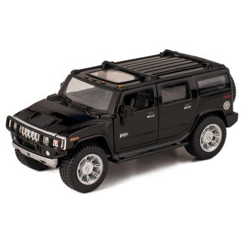 Black 2008 Hummer H2 SUV Die Cast Toy with Pull Back Action (Car Hummer Model)