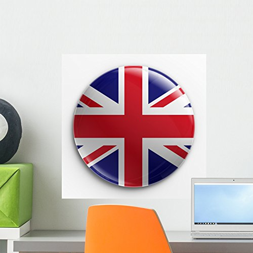Union Jack Wall Decal by Wallmonkeys Peel and Stick Graphic (18 in H x 18 in W) WM138904 (Jack Union Badges)