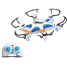 Top Race Hexacopter Drone UFO 4 Channel 5 inch Quadcopter 2.4GHz 6-Axis Gyro TR-MQ6 - Colors Vary; Red or Blue