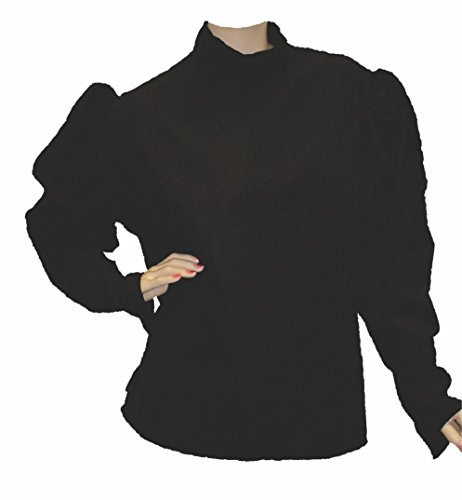 Alexanders Costumes Gibson Girl Blouse, Black, Small (Gibson Girl Costume)