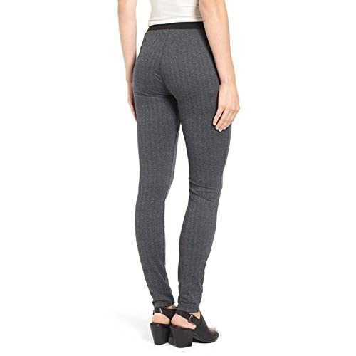 239a338a453 Eileen Fisher Women s Heathered Herringbone Stretch Leggings Pants Charcoal  Plus Size 3X