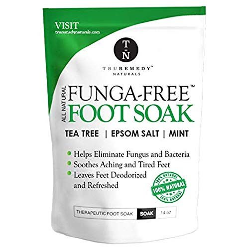 - Tea Tree Oil Foot Soak With Epsom Salt, Antifungal Foot Soak Helps Away Toenail Fungus, Athletes Foot & Stubborn Foot Odor - Softens Calluses & Soothes Sore Tired Feet, 14 Ounce