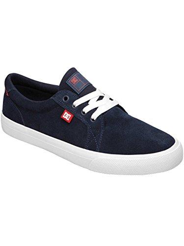 DC Council S - Zapatillas de skateboarding de ante para hombre gris Light Grey 39 azul marino/rojo