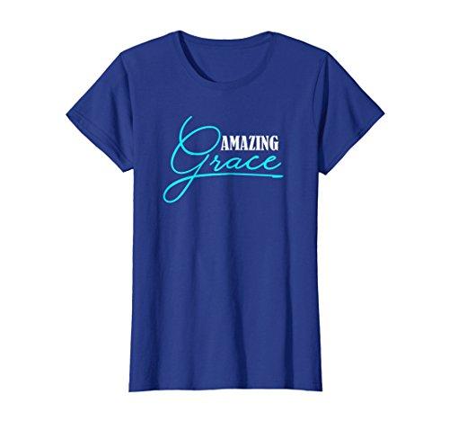 Womens Amazing Grace Christian Religious Religion T Shirt Gift Small Royal Blue