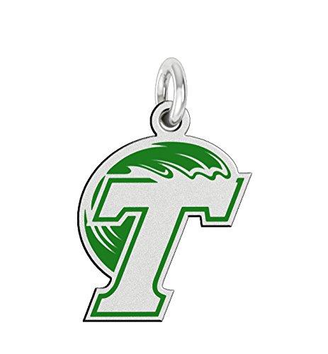Wave Logo Pendant - Tulane Green Wave Sterling Silver Logo Charm