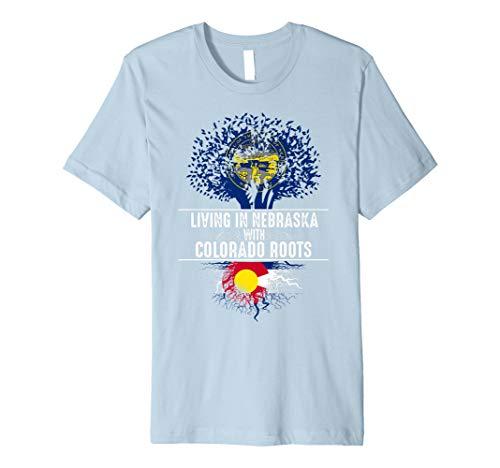 (Nebraska Home Colorado Roots State Tree Flag Shirt Love Gift)