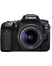 Canon DSLR Camera [EOS 90D] with EF-S 18-55 is STM Lens Kit, Built-in Wi-Fi, Dual Pixel CMOS AF and 3.0-inch Vari-Angle Touch Screen, Black