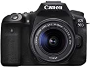 Canon DSLR Camera [EOS 90D] with EF-S 18-55 is STM Lens Kit, Built-in Wi-Fi, Dual Pixel CMOS AF and 3.0-inch V