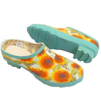 garden clogs womens. Ladies Green Floral Rhs Hunter Rubber Slip-On Garden Clog Shoes Clogs Womens