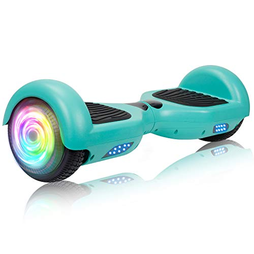 "SISIGAD Hoverboard Self Balancing Scooter 6.5"" Two-Wheel Self Balancing Hoverboard with LED Lights Electric Scooter for Adult Gift UL 2272 Certified - Green"