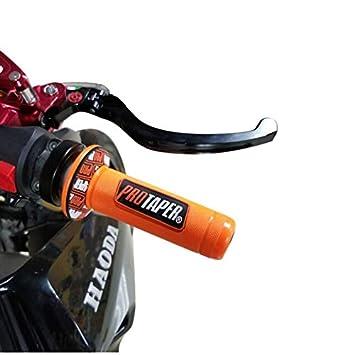 22mm Universal Moto Guidon Partie Racing Moto Guidon pour Protaper Yamaha KTM Motocross Moto Grip Pit Bike Accessoire Moto Couleur : Orange