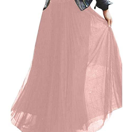 Et Taille À Longue Qiusa Jupe Polyvalente La Pour FemmescoloréNoirMRose Sexy Haute lF1c3TKuJ
