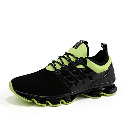 Green Size Breathable Sneakers Lace Walking Big Springblade Running Mesh Casual Shoes up Fashion Mens Athletic q6RCH