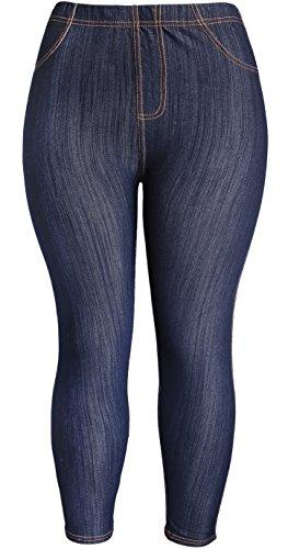 Plus Size Denim Leggings - 2