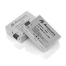 Powerextra 2 Pack 7.4V 1800mAh Li-ion Replacement Canon LP-E8 Battery for Canon Rebel T3i, T2i, T4i, T5i, EOS 600D, 550D, 650D, 700D, Kiss X5, X4, Kiss X6, LC-E8E