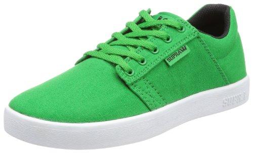 Supra KIDS WESTWAY - Caña baja de lona niño verde - Grün (GREEN / BLACK - WHITE GEB)