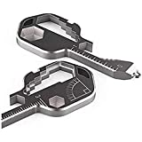 24- in-1 Multi-Tool Key, Stainless Steel Key Shaped Pocket Tool Outdoor Tool for Drill Drive, Measuring, Bottle Opener, Screw