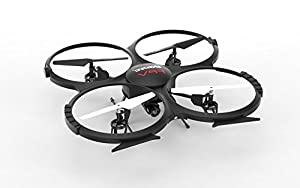 VOLTZ U818A WiFi FPV Drone with HD Camera, Altitude Hold-BONUS BATTERY INCLUDED (BLACK) by UDIRC