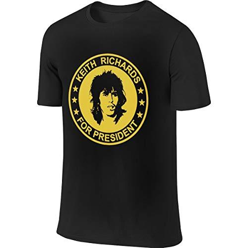 (BTVE Keith Richards President The Rolling Stones Fashion Jogging Black T-Shirt 32 )