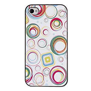 Colorful Circles Pattern PC Hard Case with Black Frame for iPhone 4/4S