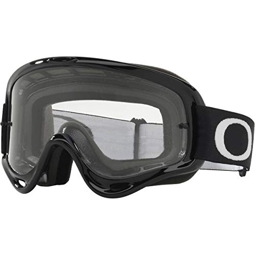 Black Lens Motorcycle - Oakley O Frame MX Adult Off-Road Motorcycle Goggles - Jet Black/Clear