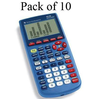 New-TI-73TP Teacher 10 Pack - TI73TKBLUE by Texas Instruments
