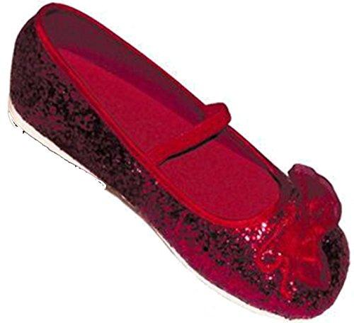 Travis - Chaussures Fille - Ballerines Pailletées. Taille 27 / 28. Couleur Rubis.