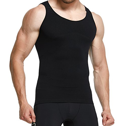 GKVK Men Body Shaper Slimming Shirt Tummy Waist Vest Abdomen Shirt