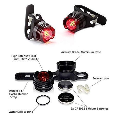 Ningbao LED Ciclismo L/ámpara USB Recargable luz Delantera de la Bicicleta con la funci/ón de Alarma Bicicleta Faro Bicicleta Manillar l/ámpara